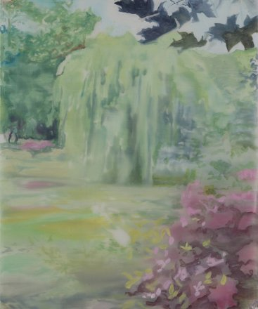 Jardin 3, Oil on paper, 43 x 35 cm, 2012