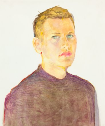 Paul, mixed media on paper, 43x35cm, 2014