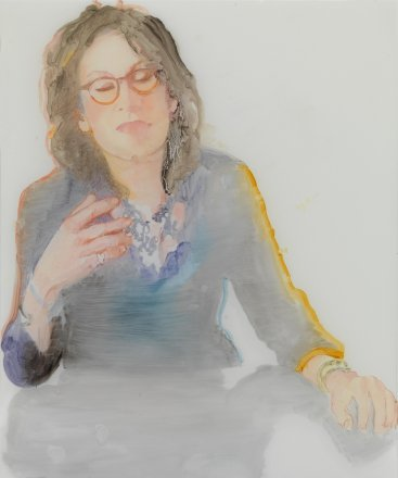 Musical selfportrait, oil on paper, 43x35cm, 2014