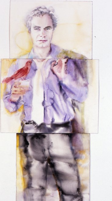 Jean-Gab, Watercolor on paper, 228 x 84 cm, 2005