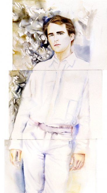 Nicolas, Watercolour on paper, 217 x 60 cm, 2003