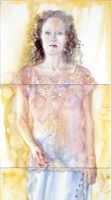 Alexandra, Watercolour on paper, 200 x 55 cm, 2002