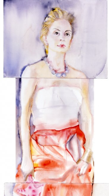 Carolina, Watercolour on paper, 200 x 55 cm, 2003