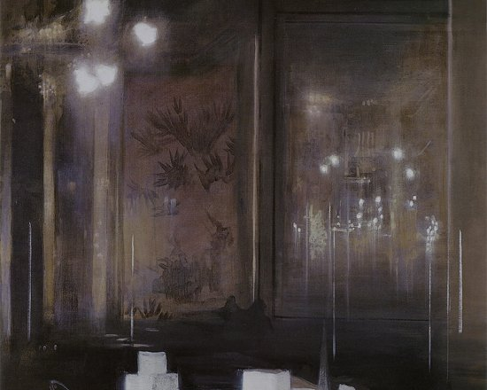 The Drowsy Café, Oil on canvas, 122 x 96 cm, 1988
