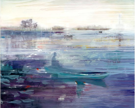 Water Of Silence, Oil on canvas, 122 x 150 cm, 2008