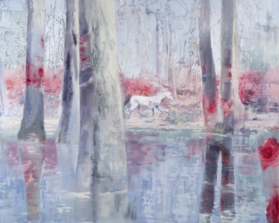 Le petit cheval rouge, Oil on canvas, 210 x 166 cm, 2011