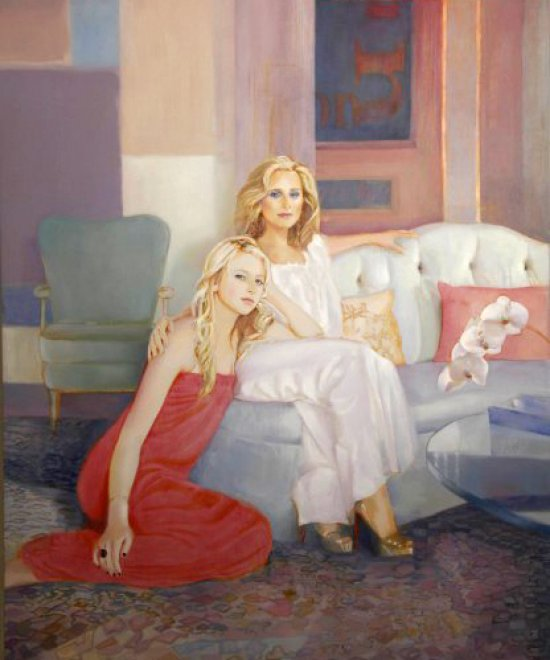 Mother and Daughter, Oil on canvas, 240 x 174 cm, 2011
