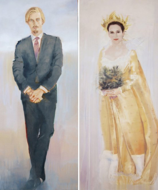 Olga et Aimone, Oil on canvas, 194 x 164 cm, 2011