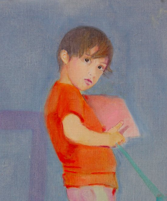 Umberto, Oil on canvas, 91x39cm, 2013
